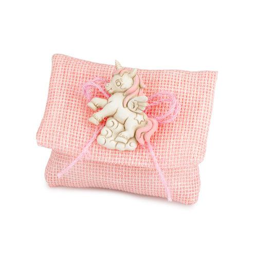 Busta Rosa con Unicorno